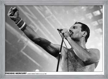 Freddie Mercury - Wembley 1984 Плакат у рамці
